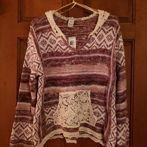 Boho Chic Sweater w/ Hood